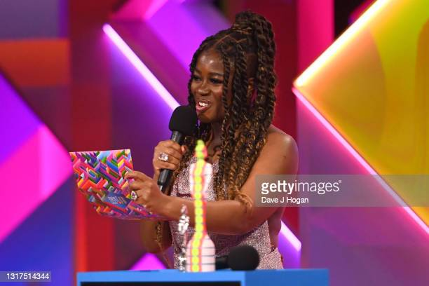 Guest presenter Clara Amfo during The BRIT Awards 2021 at The O2 Arena on May 11, 2021 in London, England.