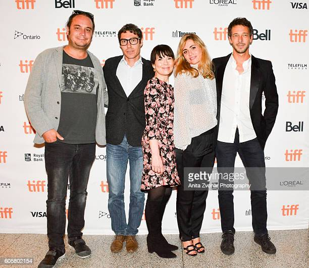 Guest Producer David Thion actor Anne Dorval director Katell Quillevere and producer Justin Taurand attend the 'Heal The Living' premiere held at...