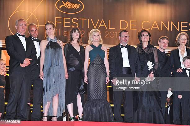 Guest producer Meta Foldager Charlotte Gainsbourg Kirsten Dunst Director Lars von Trier Bente Froge guest and Charlotte Rampling attend the...