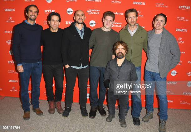 Guest producers Fernando Loureiro and Fred Berger screenwriter Mike Makowsky actor Peter Dinklage guest and producer Brian KavanaughJones attend the...