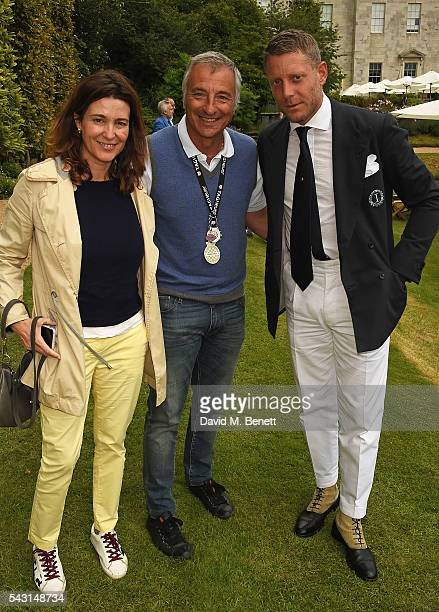 Guest Riccardo Patrese and Lapo Elkann attend The Cartier Style et Luxe at the Goodwood Festival of Speed at Goodwood on June 26 2016 in Chichester...