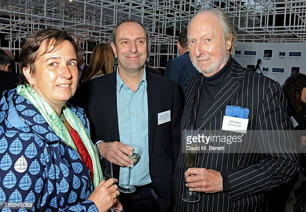 Guest Richard Cable and Ed Victor attend the Man Booker Prize shortlist announcement at The Serpentine Gallery Pavilion on September 10 2013 in...