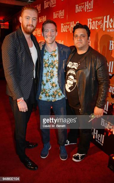 Guest Ricky Wilson and Nathan Azmi attend the Gala Night after party for 'Bat Out Of Hell The Musical' at the Bloomsbury Ballroom on April 19 2018 in...