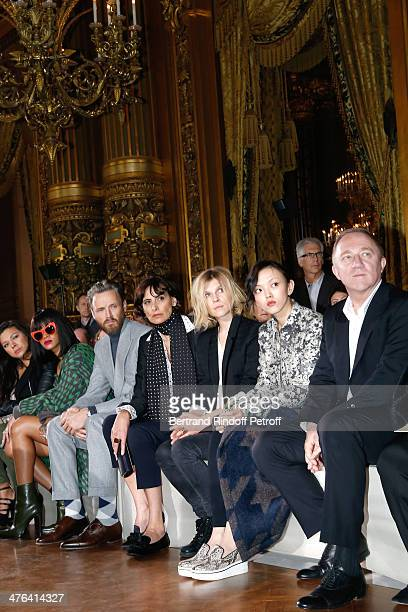 Guest Rihanna Stella McCartney husband Alasdhair Willis Ines de la Fressange Clemence Poesy Rila Fukushima and FrancoisHenri Pinault attend the...