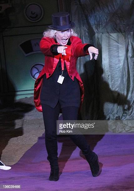 Guest Ringmaster Glenn Close attends the Big Apple Circus at Damrosch Park Lincoln Center on December 17 2011 in New York City
