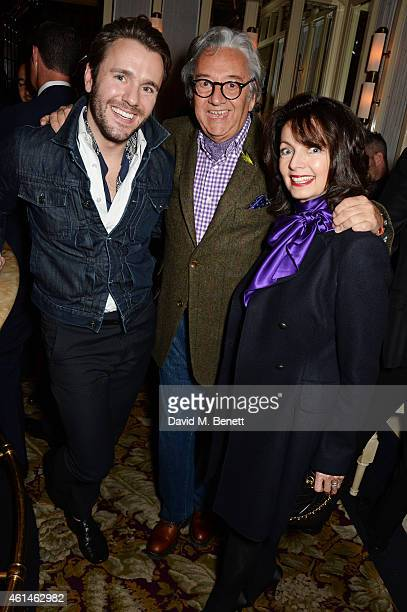 Guest Rob Dickins and Cherry Gillespie attend the launch of Tom Ford's new fragrance Noir Extreme at The Chiltern Firehouse on January 12 2015 in...