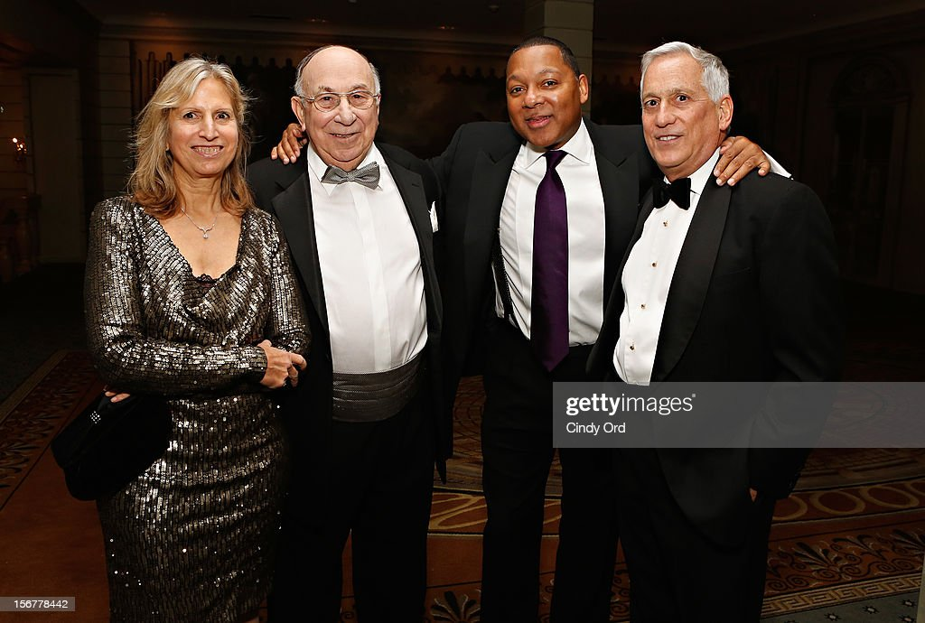 Guest, Robert Appel, Wynton Marsalis and Walter Isaacson attend the 2012 History Makers Gala at The Pierre Hotel on November 20, 2012 in New York City.