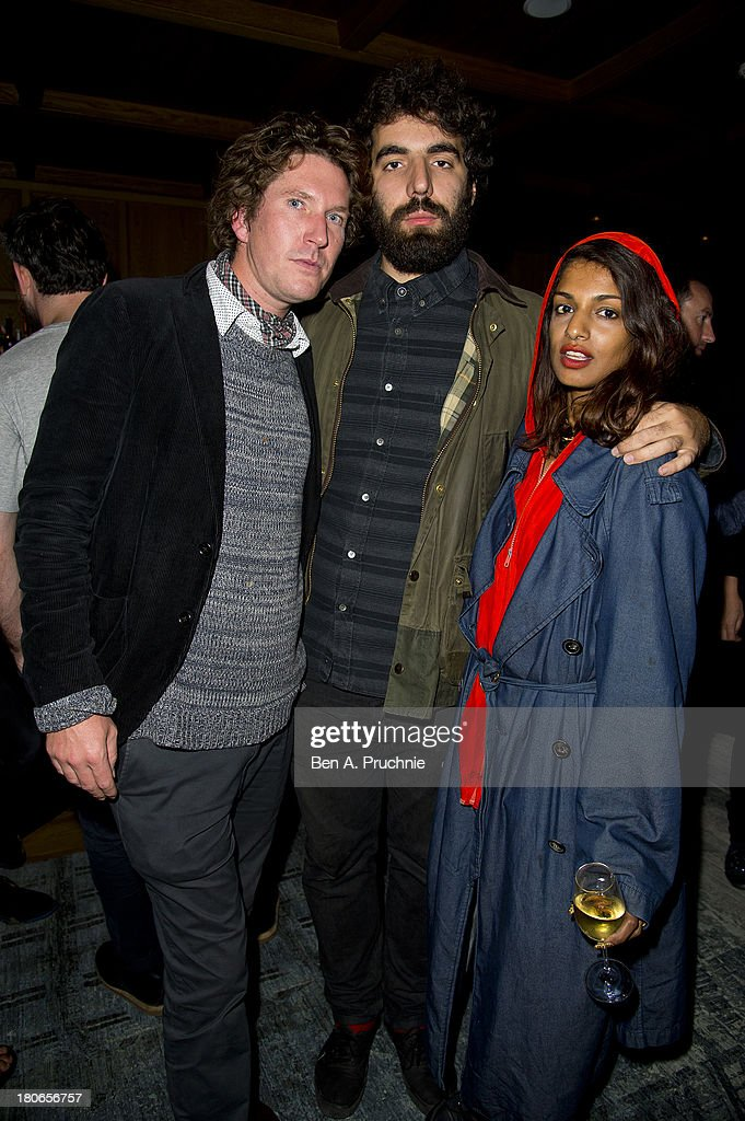 Guest, Romain Gavras and M.I.A attends Paula Goldstein's voyagedetudes.com launch in the Punch Room at The London EDITION on September 15, 2013 in London, England.