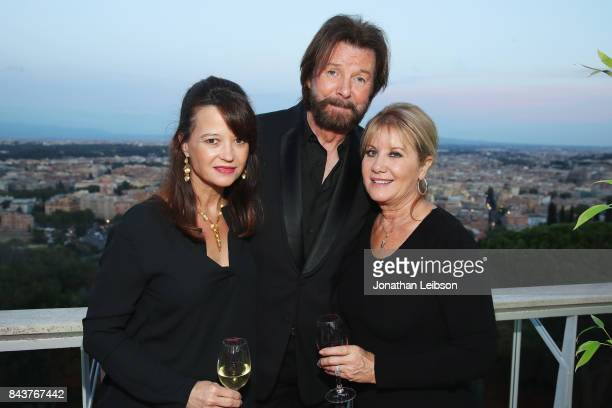 Guest Ronnie Dunn and his wife Janine attend the Rooftop Dinner at the Waldorf Astoria Hotel Cavalieri as part of the 2017 Celebrity Fight Night in...