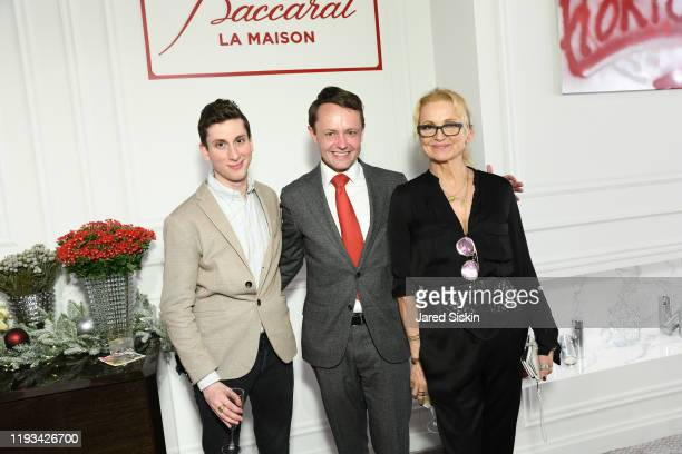 Guest Roric Tobin and Teresa Laughlin at Roric Tobin's Holiday Dining Room For Luxury Living at Luxury Living Showroom on December 11 2019 in New...