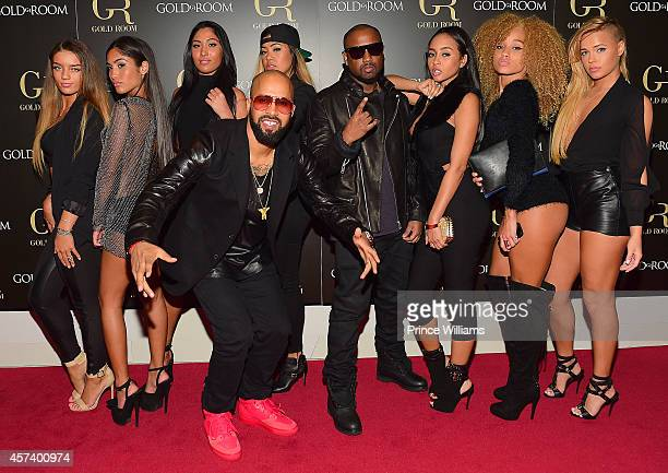 Guest Ruby Sayed Kenny Burns Leena Sayed Kinky Michael 'Taz' Williams Cat AB and Ashley Martelle attend the Gold Room on October 6 2014 in Atlanta...