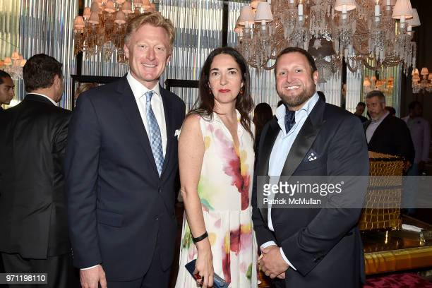 Guest Sanda Josipolvic and Christopher King attend Christopher R King Debuts New Luxury Brand CCCXXXIII at Baccarat Hotel on June 5 2018 in New York...