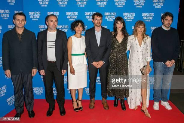 A guest Sebastien Betbeder Naidra Ayadi Pierre Deladonchamps Judith Chemla Ana Girardot and Damien Bonnard attend the 7th Champs Elysees Film...