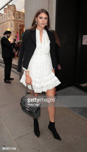 Guest seen attending Kurt Geiger boutique opening party at Selfridges on May 31 2018 in London England