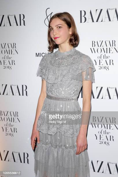 Guest seen attending the Harper's Bazaar Women of the Year Awards at The Ballroom of Claridge's on October 30 2018 in London Englan