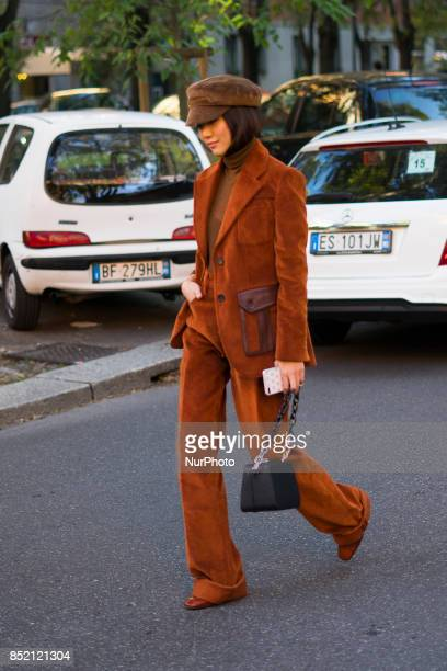 A guest seen during Milan Fashion Week Spring/Summer 2018 on September 21 2017 in Milan Italy