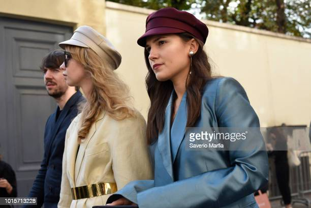 Guest seen outside Christian Dior during Paris Fashion Week Spring/Summer 2018 on September 26 2017 in Paris France