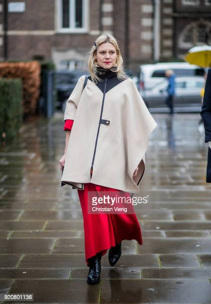 Guest seen outside Christopher Kane during London Fashion Week February 2018 on February 19, 2018 in London, England.