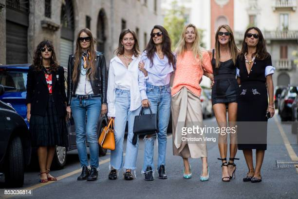 Guest seen outside Dolce Gabbana during Milan Fashion Week Spring/Summer 2018 on September 24 2017 in Milan Italy