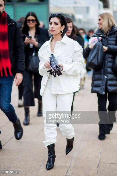 A guest seen outside Michael Kors on February 14 2018 in New York City