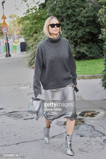 Guest seen outside Moncler Gamma Rouge during Paris Fashion Week Spring/Summer 2018 on 3rd October 2017 in Paris France