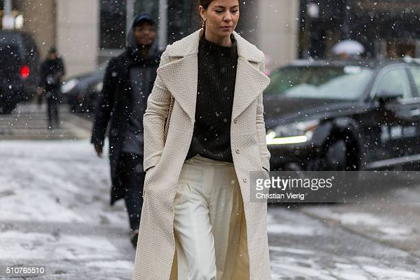A guest seen outside Phillip Lim during New York Fashion Week Women's Fall/Winter 2016 on February 15 2016 in New York City