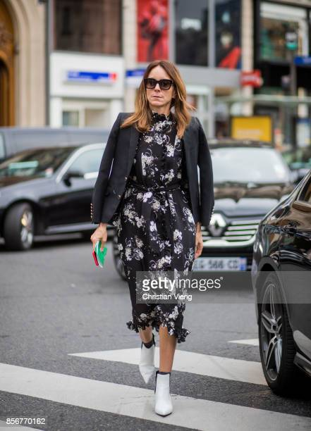A guest seen outside Stella McCartney during Paris Fashion Week Spring/Summer 2018 on October 2 2017 in Paris France