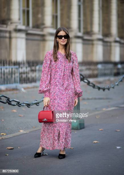 A guest seen outside Thom Browne during Paris Fashion Week Spring/Summer 2018 on October 3 2017 in Paris France