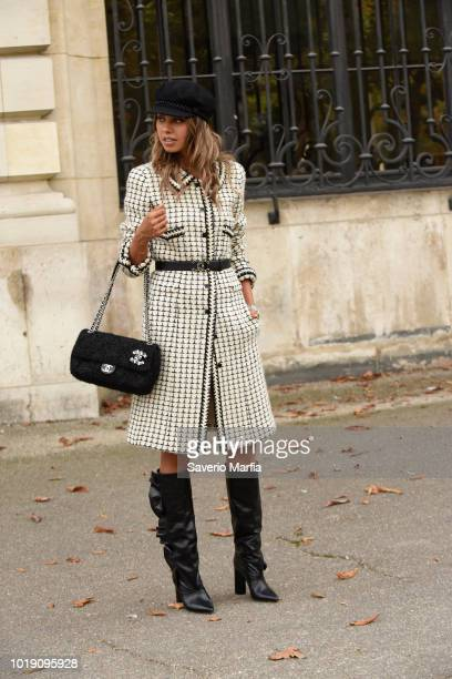 Guest seen outside Ungaro during Paris Fashion Week Spring/Summer 2018 on September 29, 2017 in Paris, France