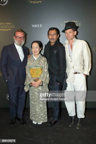 Guest Setsuko Klossowska de Rola Haider Ackermann and Daniel de la Falaise attend Vogue Party as part of the Paris Fashion Week Womenswear...