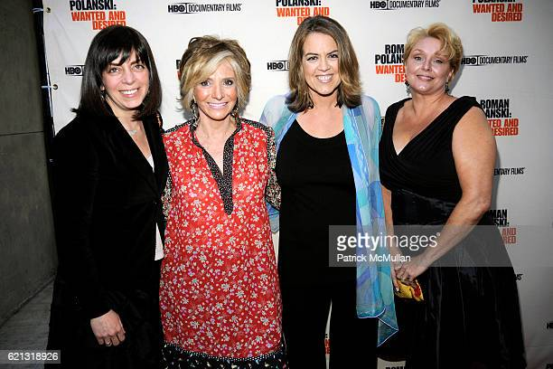 Guest Sheila Nevins Marina Zenovich and Samantha Geimer attend HBO Documentary Films' New York Premiere of 'ROMAN POLANSKI Wanted and Desired' at The...