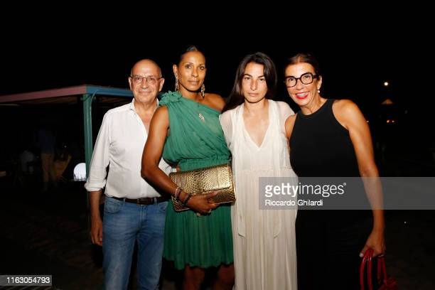 Guest Sherrett Dahlstrom Annalisa Bugliani and guest attend the welcome dinner celebrating the opening of Rachel Lee Hovnanian's museum show Open...