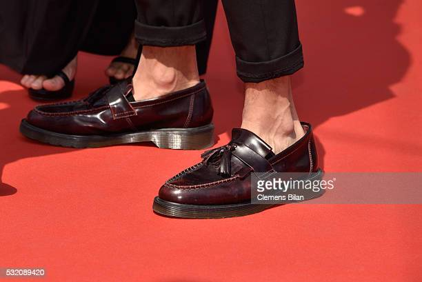 A guest shoe detail arrives for the 'Ma'Rosa' premiere during the 69th Annual Cannes Film Festival at the Palais des Festivals on May 18 2016 in...