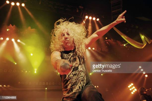 Guest singer Dee Snider performs with Monster Circus at the Las Vegas Hilton on March 26 2009 in Las Vegas Nevada