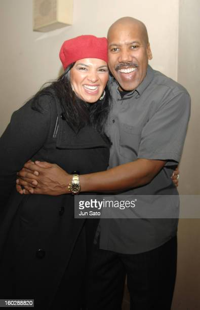 Guest singer Michelle John from Eric Clapton Band and Nathan East backstage