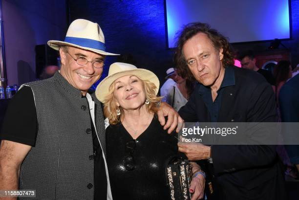 A guest Singer Nicoletta and Jean Christophe Molinier attend Petanque Gastronomique 2019 hosted by Daniel Lauclair at Paris Yacht Marina on June 27...