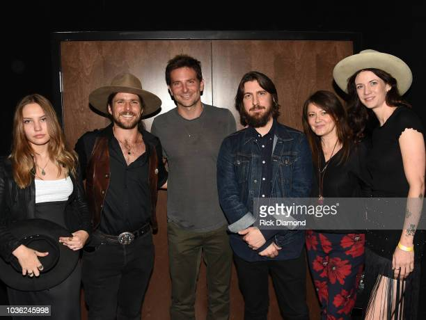 Guest Singer/Songwriter Lukas Nelson Actor/Director Bradley Cooper Music Producer Dave Cobb Lydia Cobb and Guest attend 'A Star Is Born' screening...
