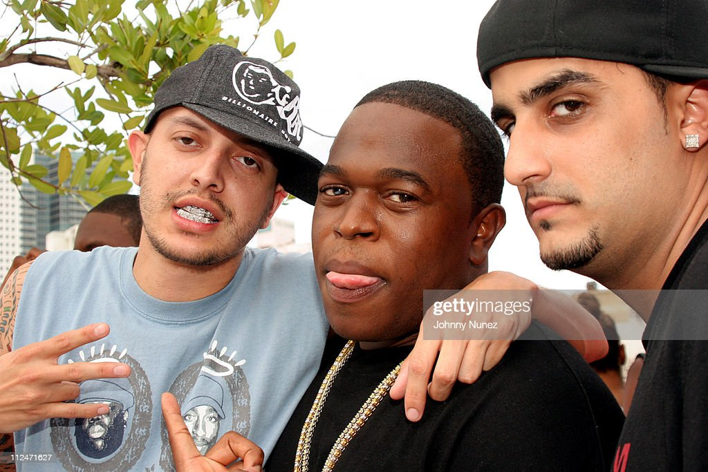 Guest, Smitty and guest during 2005 MTV VMA - John Singelton Party Hosted by DJ Biz Markie and Snoop Dogg at Sanctuary Hotel in Miami, Florida, United States.