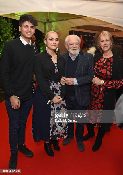 Guest Sophie Mae Jason Gill Hinchcliffe and Sir David Jason attend the Cirque du Soleil Premiere Of TOTEM at Royal Albert Hall on January 16 2019 in...