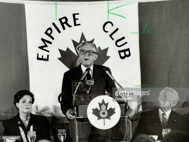 Guest speaker Lord Carrington secretarygeneral of NATO told the Empire Club yesterday that he's opposed to a unilateral arms reduction or a nuclear...