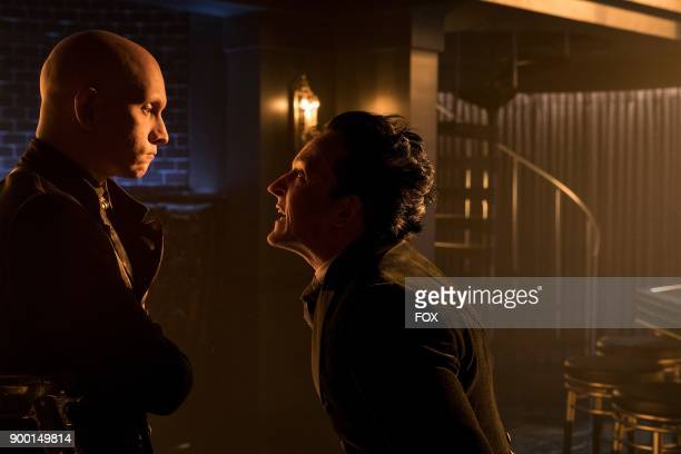 Guest star Anthony Carrigan and Robin Lord Taylor in the A Dark Knight Queen Takes Knight episode of GOTHAM airing Thursday Dec 7 on FOX