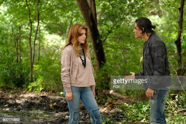Guest star Elena Satine and Blair Redford in the 'eXodus' episode of THE GIFTED airing Monday Oct 16 on FOX