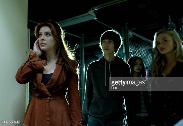 Guest star Elena Satine Percy Hynes White Jamie Chung and Natalie Alyn Lind in the 'outfoX' episode of THE GIFTED airing Monday Dec 4 on FOX