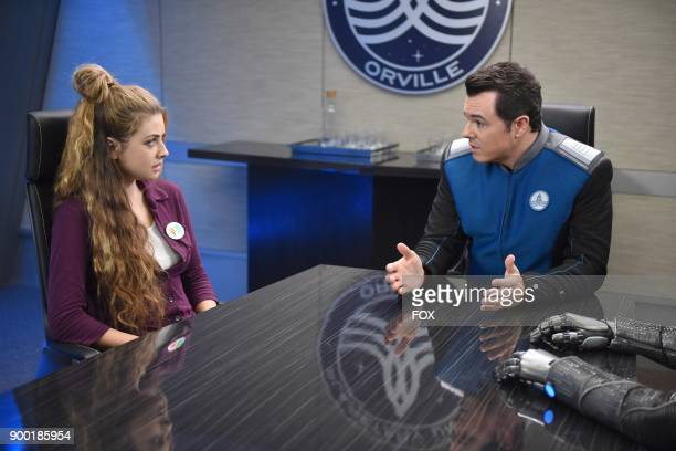 Guest star Giorgia Whigham and Seth MacFarlane in the Majority Rule episode of THE ORVILLE airing Thursday Oct 26 on FOX