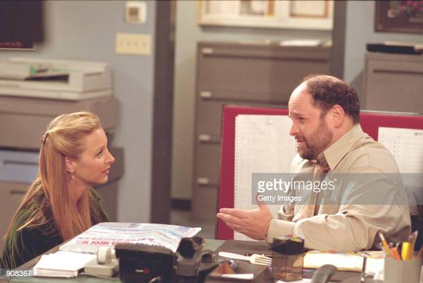 Guest star Jason Alexander and Lisa Kudrow star in this Supersized episode of NBC's comedy series Friends episode The One Where Rosita Dies Phoebe's...