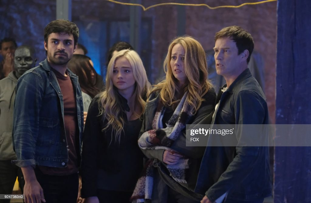 Guest star Jermaine Rivers, Sean Teale, Natalie Alyn Lind, Amy Acker and Stephen Moyer in the second part of the eXtraction/X-roads two-hour season finale of THE GIFTED airing Monday, Jan. 15 (8:00-10:00 PM ET/PT) on FOX.