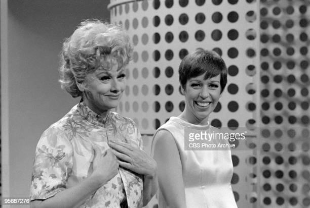 Guest star, Lucille Ball and Carol Burnett on THE CAROL BURNETT SHOW, September 23, 1967.