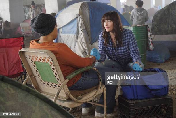 Guest star Lyndsy Fonesca and Liv Tyler in the Awakening/Austin, We Have A Problem two-hour season finale of 9-1-1: LONE STAR airing Monday, March 9...