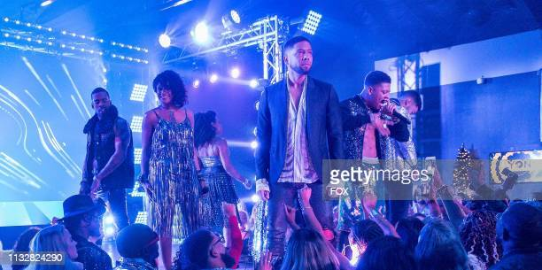 Guest star Mario guest star Tisha Campbell Jussie Smollett and Bryshere Y Gray in the Had It From My Father fall finale episode of EMPIRE airing...
