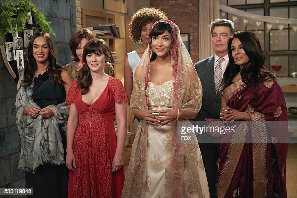 Guest star Megan Fox guest star Nora Dunn Zooey Deschanel guest star Kim Wayans Hannah Simone guest star Peter Gallagher and guest star Anna George...